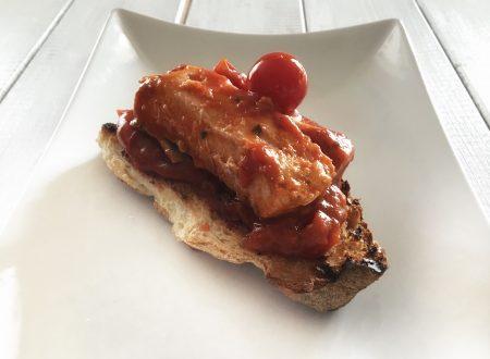 Filetti di salmone con pomodorini