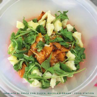 insalata di pasta con zucca, rucola e grana 3