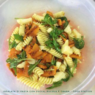 insalata di pasta con zucca, rucola e grana 1