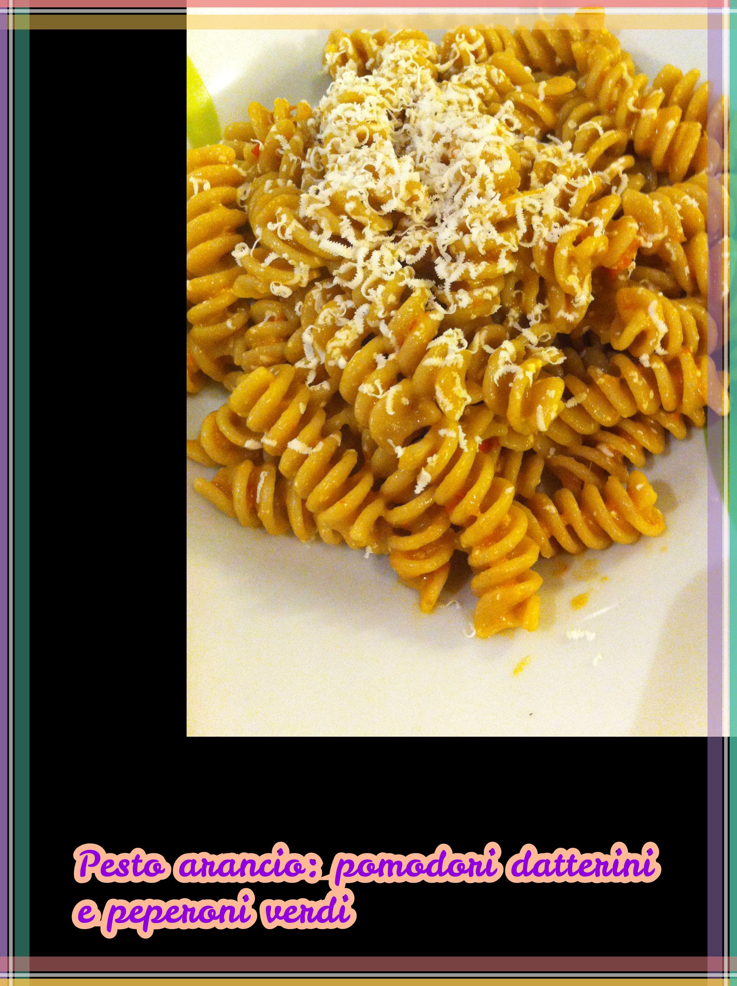 Pesto arancio (pomodori e peperoni verdi)