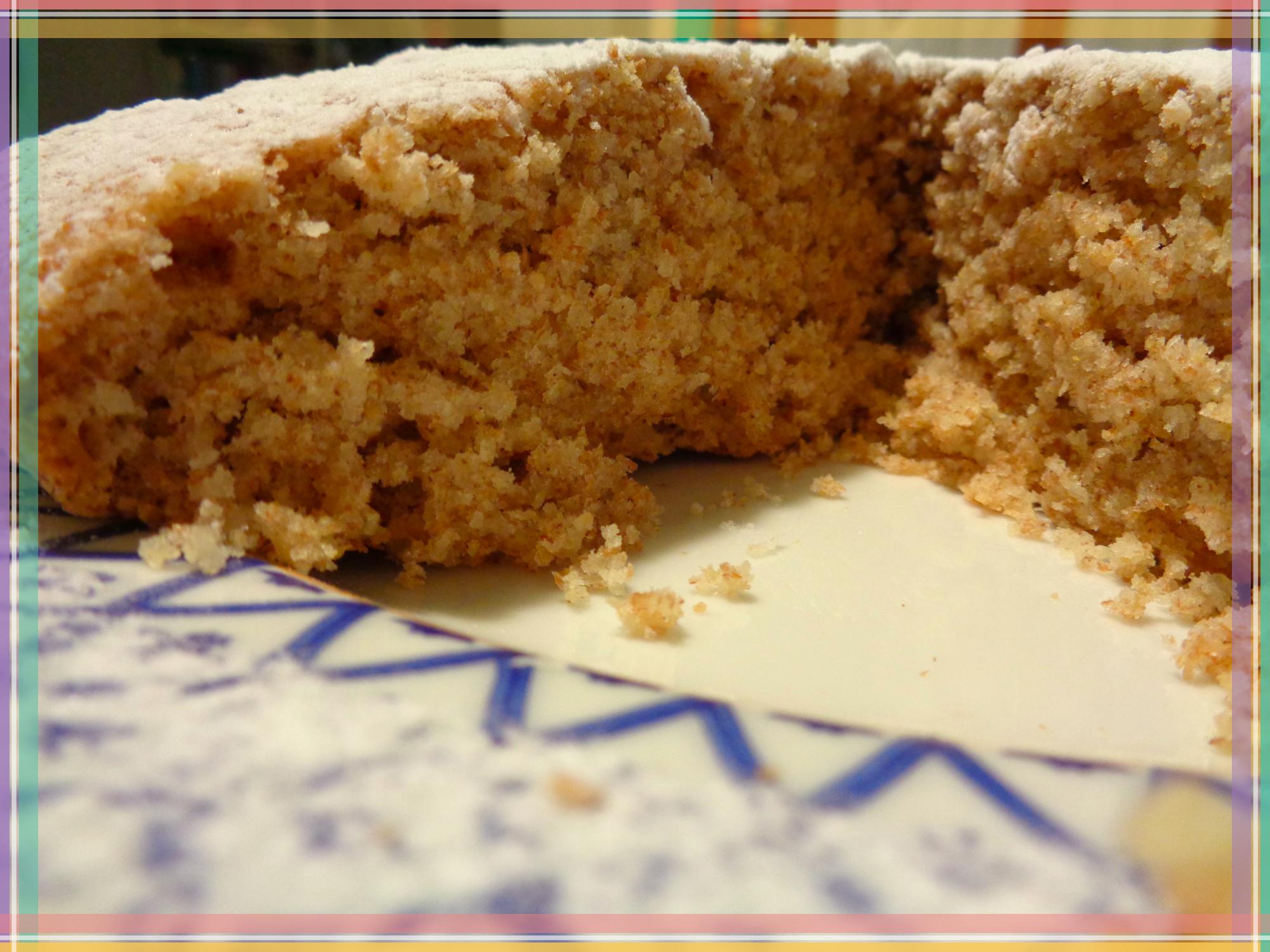 Torta al cocco con farina integrale