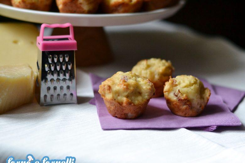 Muffin al cavolfiore e speck