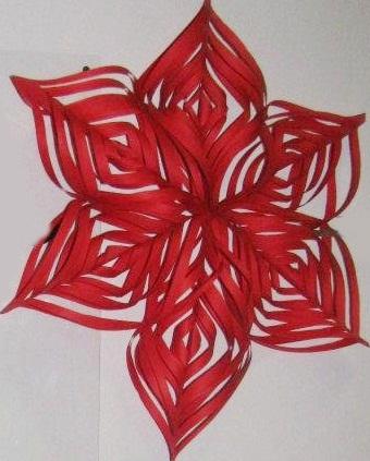 Stelle di carta, decorazione natalizia
