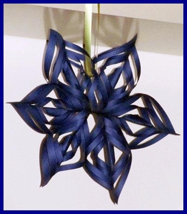 Stelle di carta decorazione natalizia forno e fornelli - Decorare le finestre per natale ...