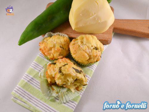 Muffin ai peperoni e provolone