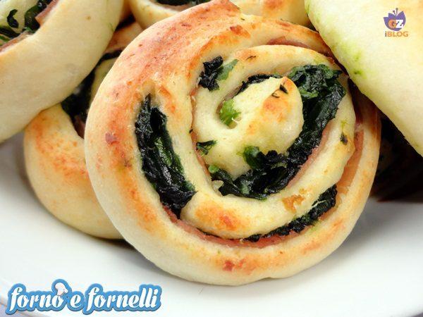 Girelle al prosciutto crudo e spinaci