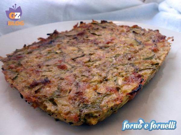 Tortino di zucchine e prosciutto cotto, ricetta light (1)