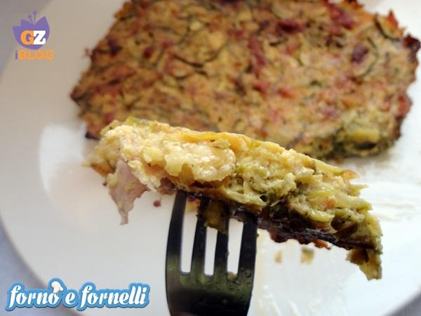 Tortino di zucchine e prosciutto cotto, ricetta light (2)