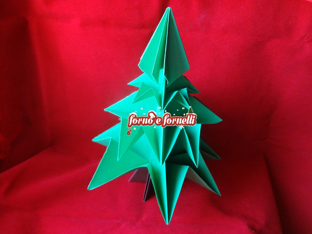 albero di natale origami
