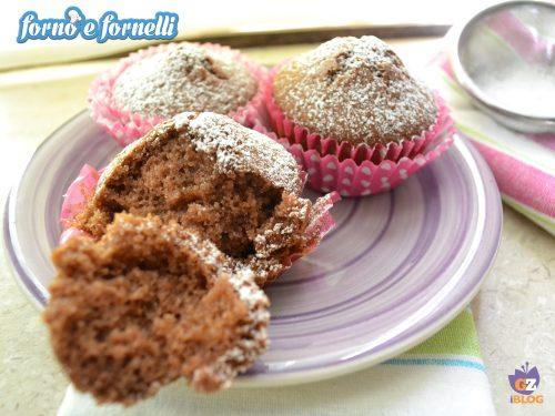 Muffin al cacao all'acqua