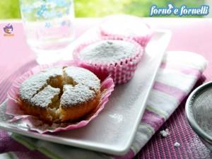 Muffin alla vaniglia all'acqua