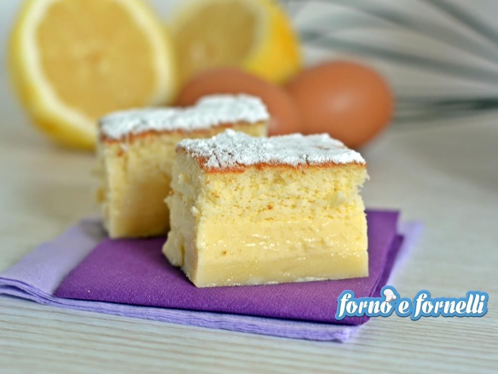 Torta magica al limone, dolce semplice, con video ricetta