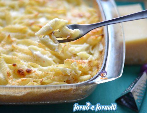 Pasta ai formaggi gratinata al forno