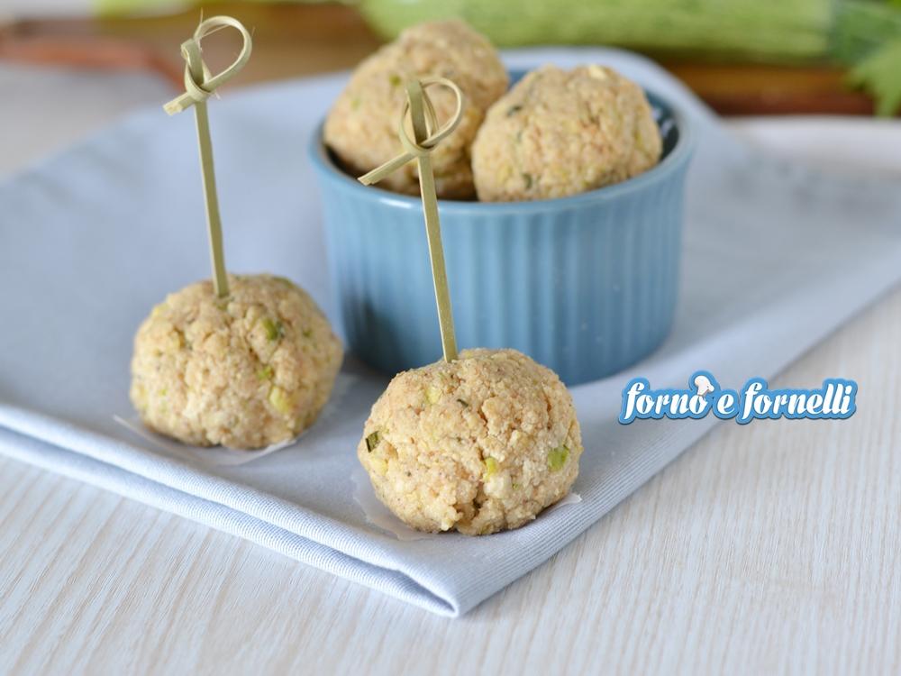 polpette di tofu e zucchine