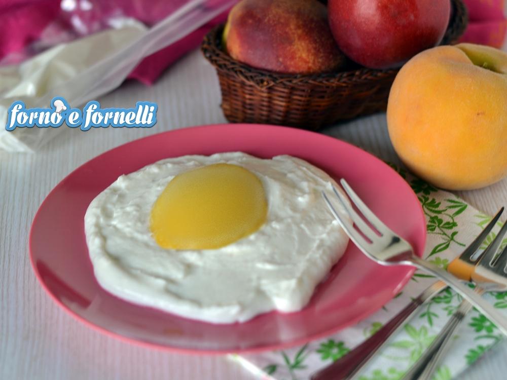 Uovo fritto gelato