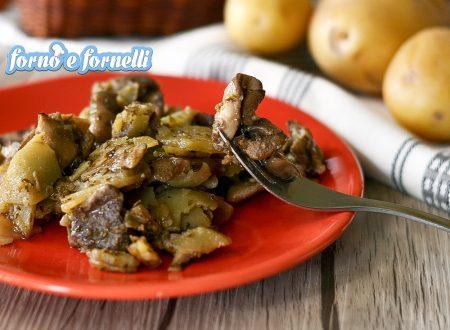 Funghi vavusi e patate