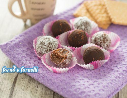 Tartufi al cioccolato senza uova e senza cottura