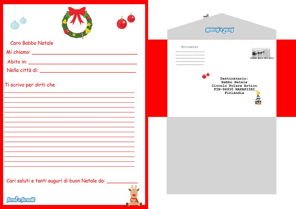 Babbo Natale Letterine.Letterina A Babbo Natale Da Stampare Gratis Completa Di Busta