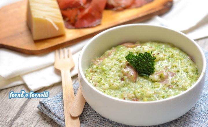 Risotto ai broccoli cremoso con speck