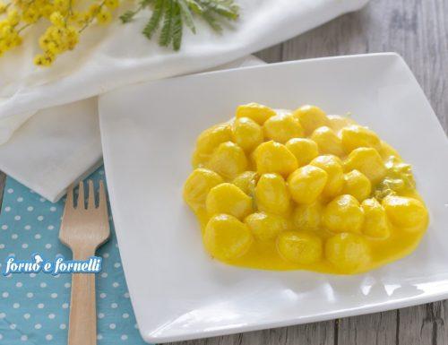 Gnocchi allo zafferano con crema di formaggi