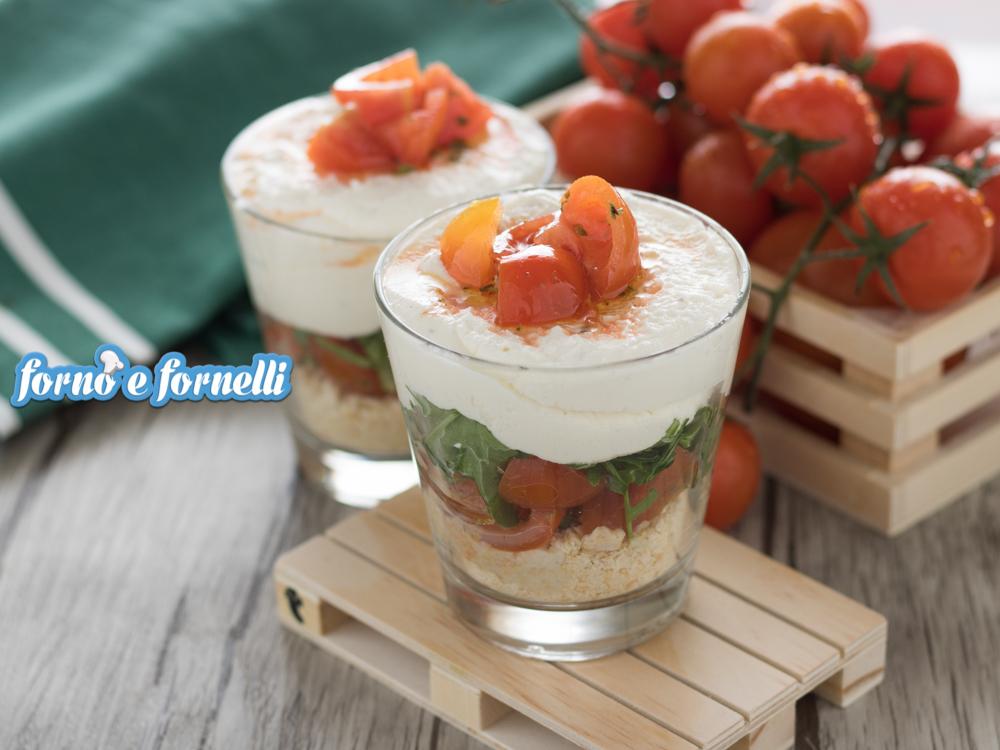 Cheesecake salata con pomodorini senza colla di pesce