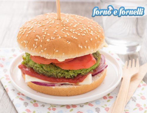 Burger di piselli, peas burger