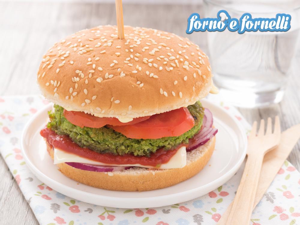 Burger di piselli