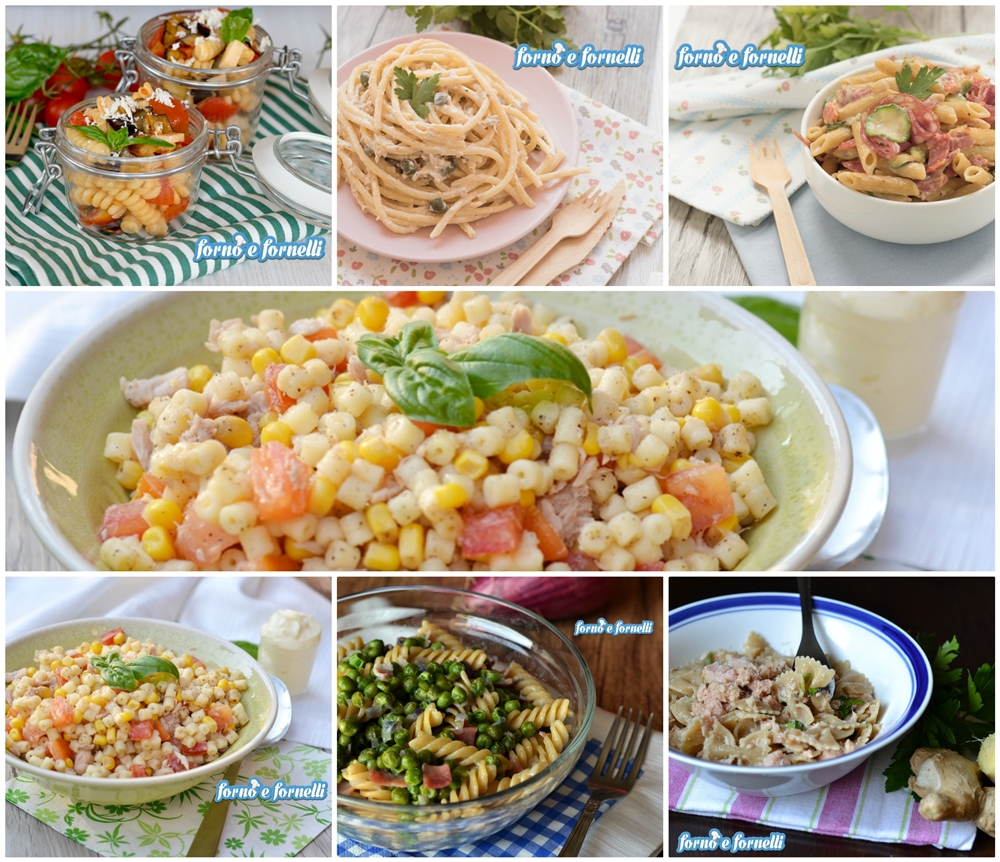 Ricette di pasta fredda e primi freddi, immancabili in estate