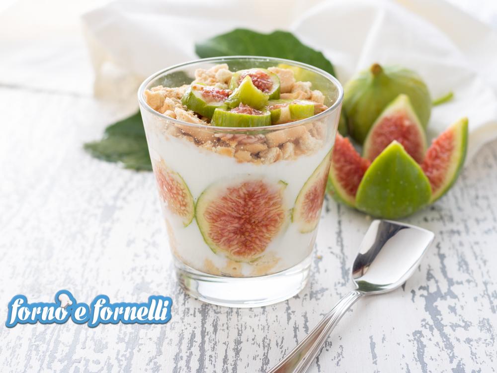 crema di yogurt ai fichi