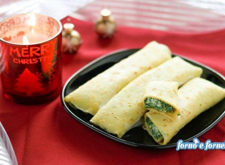 Cannelloni di crepes ricotta e spinaci