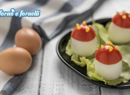 Funghi di uova e pomodoro