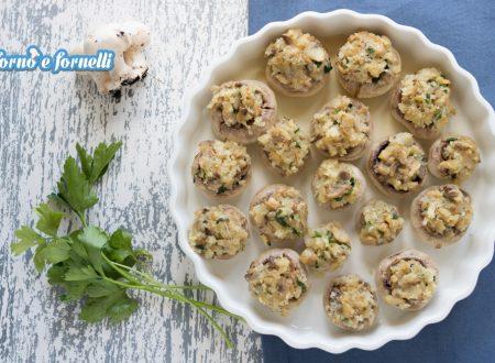 Funghi gratinati al forno senza carne