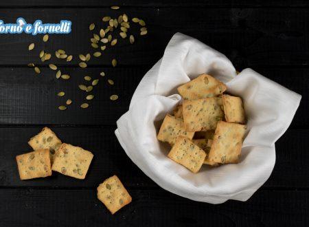 Crackers ai semi di zucca