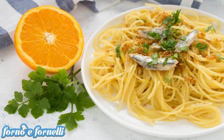 Pasta con le alici all'arancia