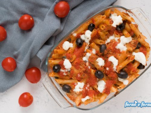 Pasta tonno e olive al forno