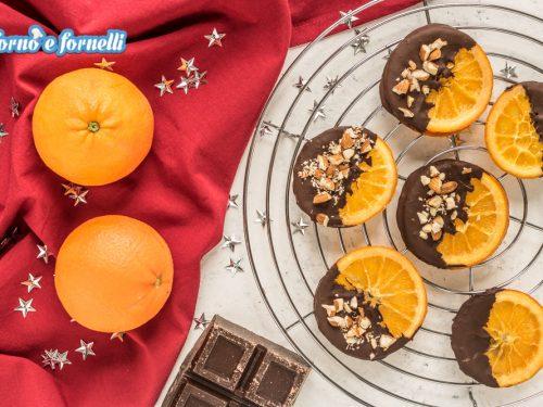 Arance candite al cioccolato fondente
