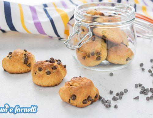 Biscotti con yogurt e gocce di cioccolato