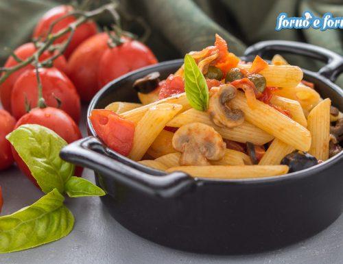 Pasta con le olive e funghi