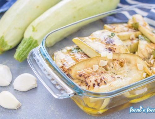 Zucchine grigliate con olio e aceto