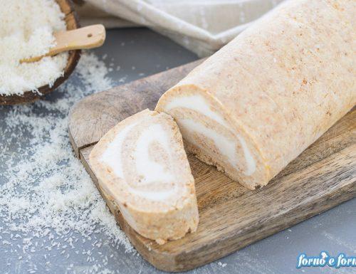 Rotolo di gelato al cocco