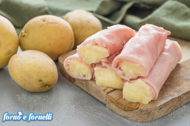 Involtini di prosciutto cotto e patate
