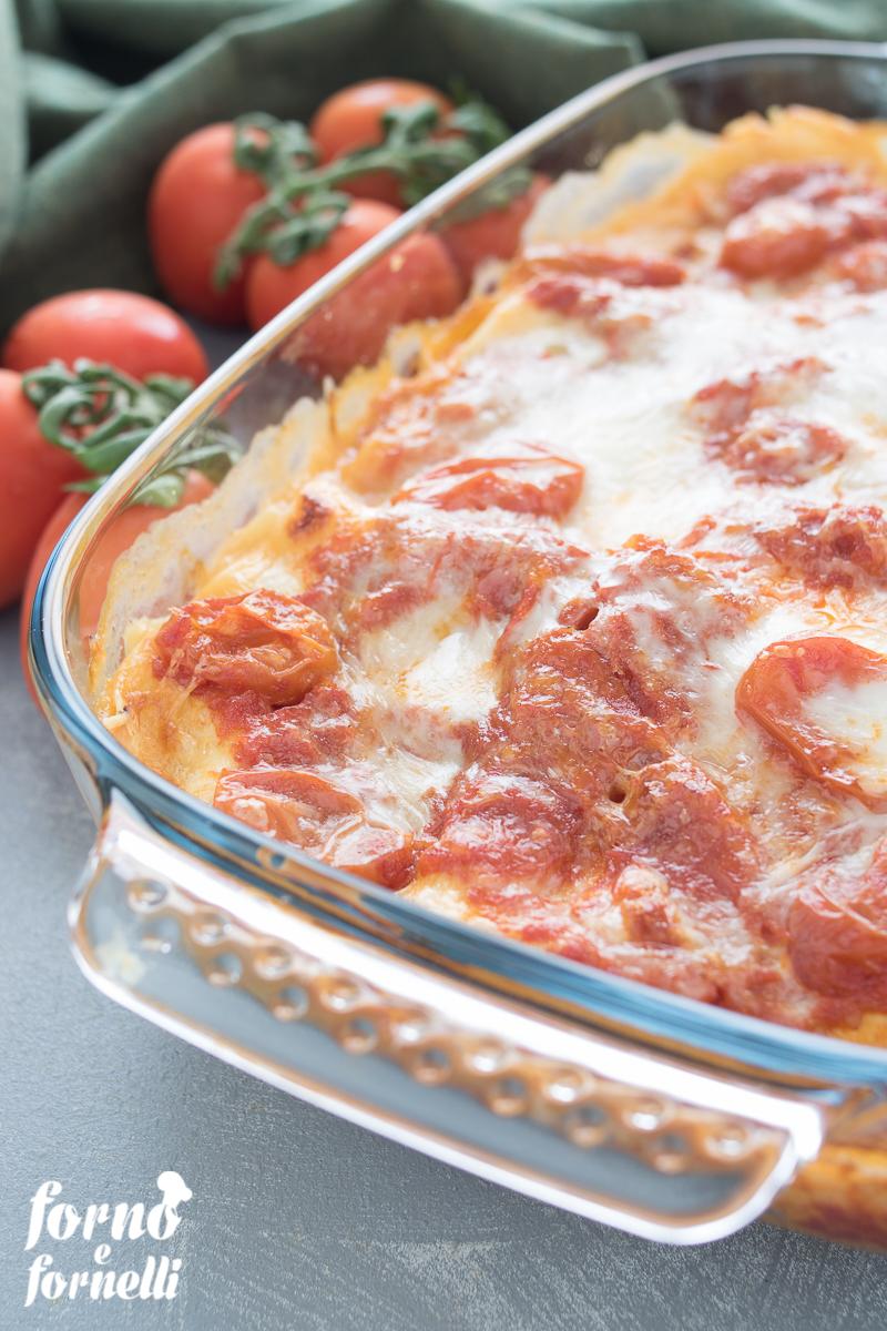 lasagne pomodoro e mozzarella