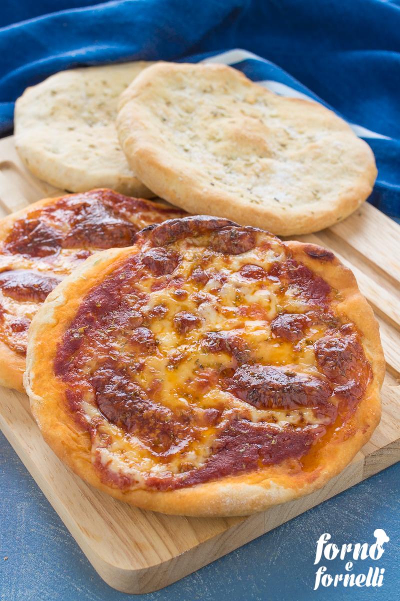 pizzette senza lievitazione con lievito istantaneo
