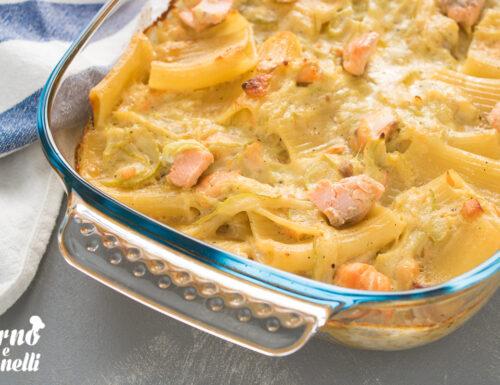 Pasta con salmone e zucchine al forno