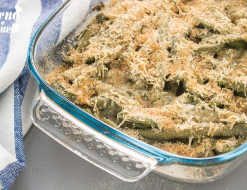 Fagiolini al forno gratinati