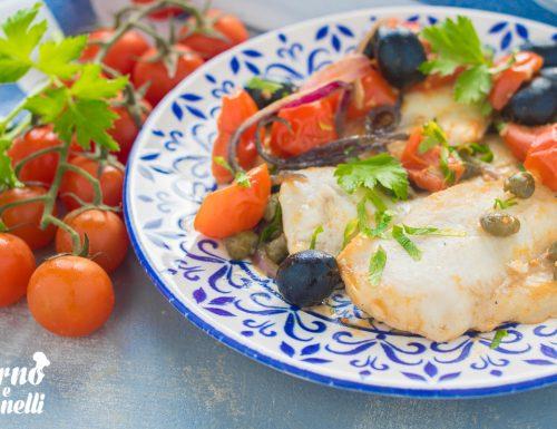 Merluzzo con pomodorini alla siciliana