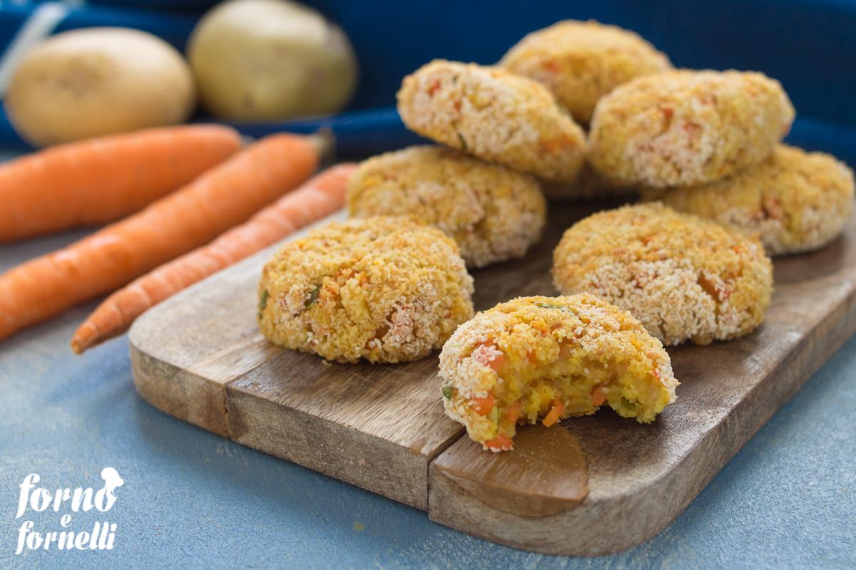 polpette di carote e patate senza uova