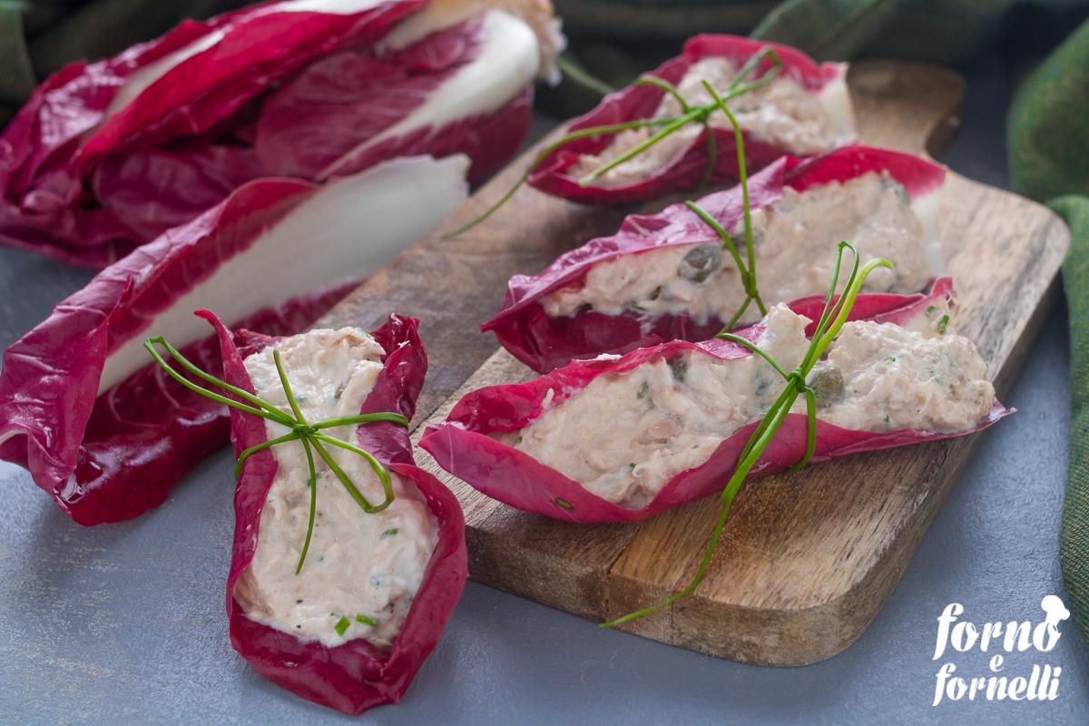 barchette di radicchio al tonno senza cottura