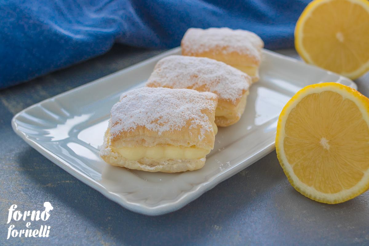 sporca muss dolci con crema pasticcera con pasta sfoglia