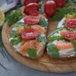 bruschette al salmone